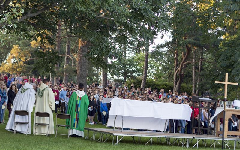 Outdoor Welcome Mass