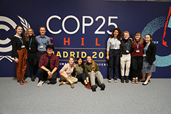 students at COP 25 negotiations