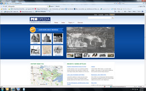 Screen shot of MNOPEDIA site